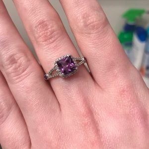 Charmed Aroma SS925 Purple Ring! Size 8.5